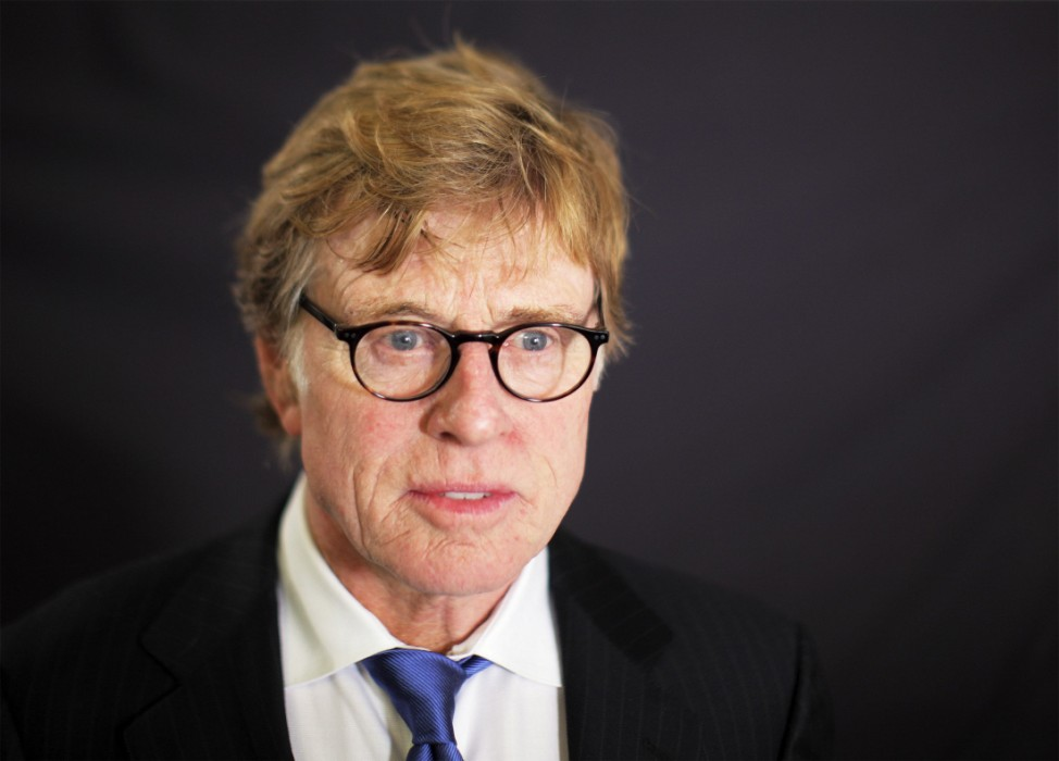 Actor Robert Redford poses for a portrait in New York after being named winner of the 2008 Dorothy and Lillian Gish Prize