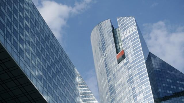 Weltwirtschaftskrise: Hauptquartier der Société Générale im Pariser Geschäftsviertel La Défense. Die französische Bank war in dieser Woche Ziel einer Spekulationsattacke geworden.