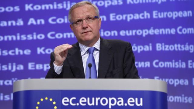 Rehn fordert schnelles Handeln der Euro-Laender