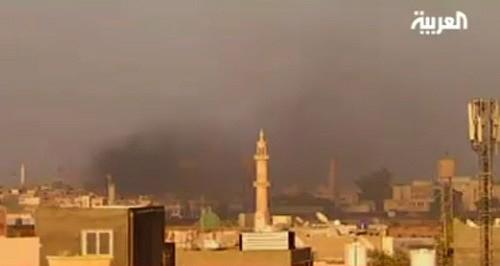 Rebel entered the Bab al Aziziya compound