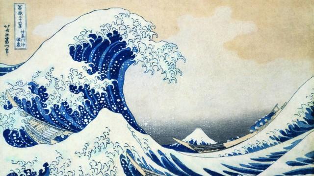 """Tsunami vor zehn Jahren: Hokusais """"Welle"""" erschien im Unicef-Kalender ausgerechnet am Tag des Tsunamis."""