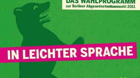 Grüne Berlin Wahlprogramm leichte Sprache