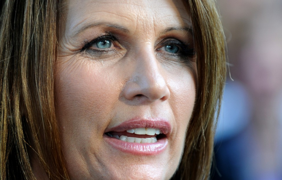 Michele Bachmann Addresses Tea Party Rally In Iowa