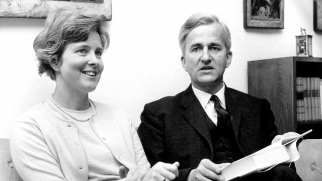 Richard von Weizsäcker Bundespräsident Ehefrau Marianne 1968