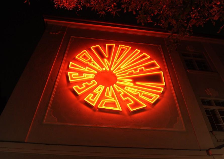 Lichtinstallation zum Gedenken an Georg Elser in München, 2009