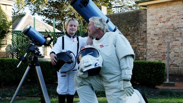 Richard Branson Celebrates Virgin Money's Australia Birthday