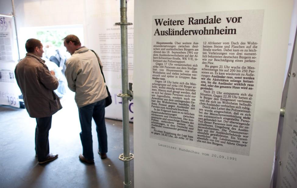 Ausstellung zu Ausschreitungen in Hoyerswerda