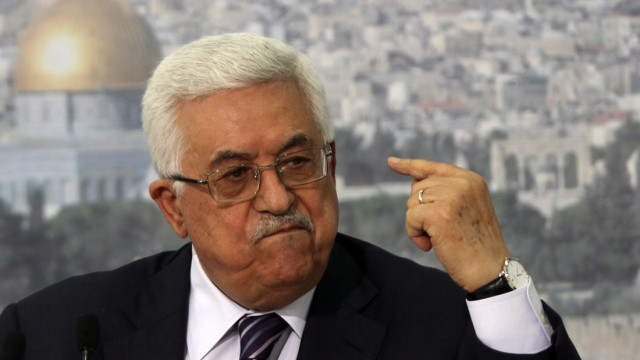 Palestinian President Mahmoud Abbas speaks on statehood