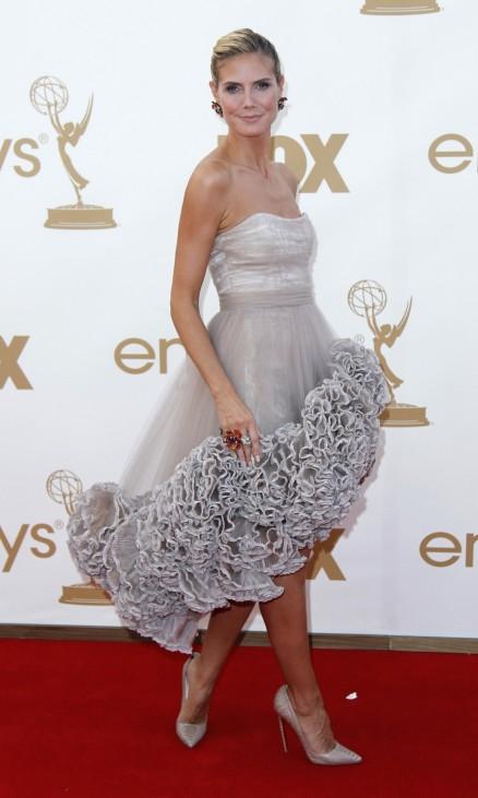 Heidi Klum arrives at the 63rd Primetime Emmy Awards in Los Angeles