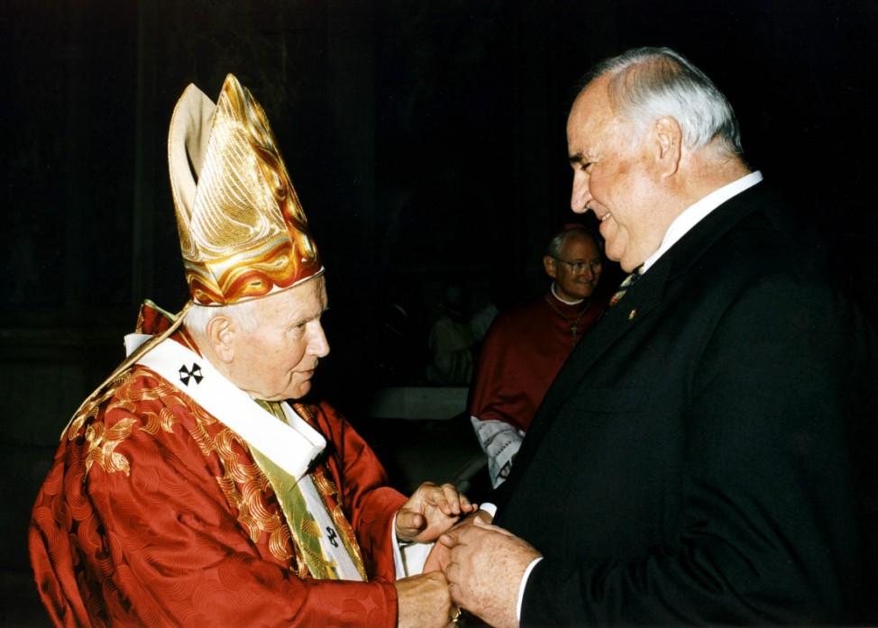 Papst Johannes Paul II. und Helmut Kohl, 1998