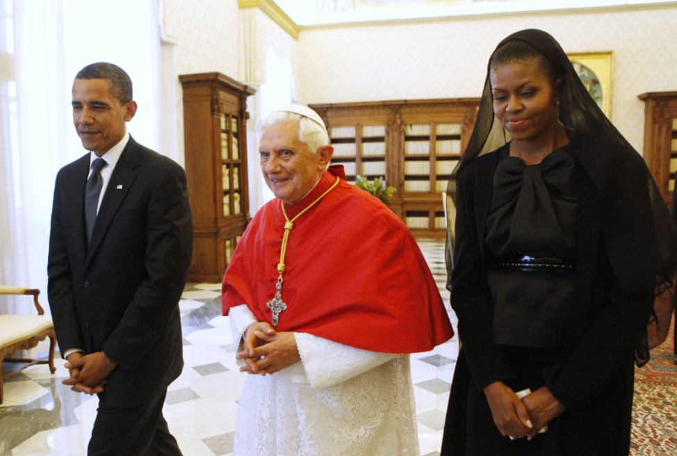 Barack Obama, Pope Benedict XVI, Michelle Obama