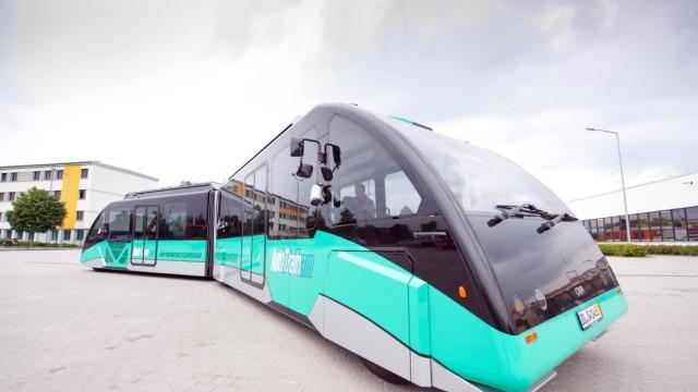 AutoTram des Fraunhofer Instituts mit Elektroantrieb