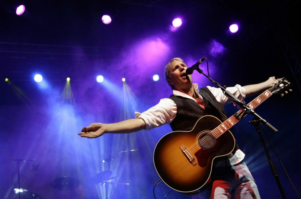 US actor and musician Costner performs during charity concert in Munich