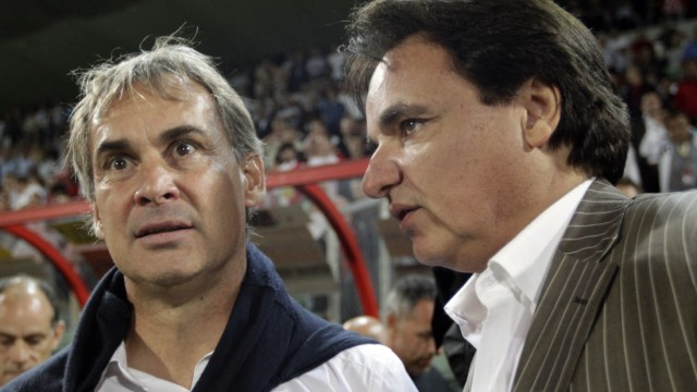 File photo of FC Sion's manager Roussey and FC Sion's president Constantin