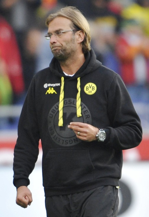 Borussia Dortmund head coach Klopp reacts after their German Bundesliga first division soccer match against Hanover 96  in Hanover