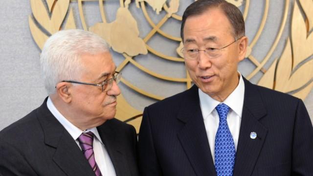 President Mahmoud Abbas meets in new York City with UN Secretary-