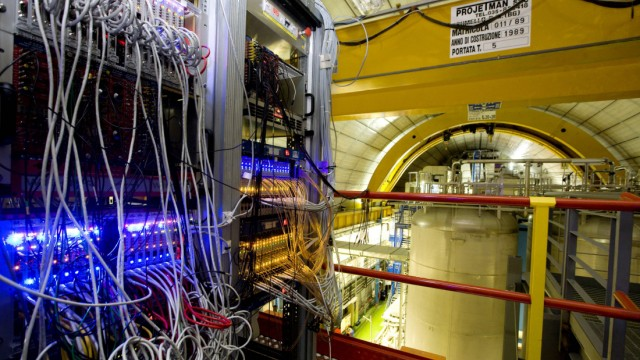 A general view of the detector 'OPERA' at the LNGS (Gran Sasso National Laboratory) near L'Aquila, central Italy