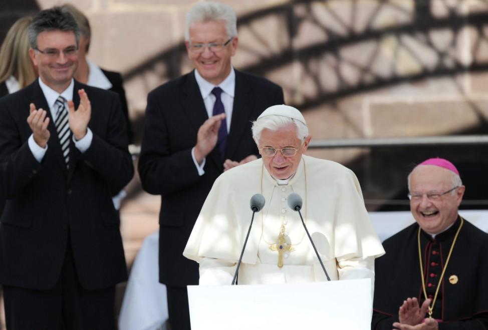 Papst Benedikt XVI. besucht Deutschland