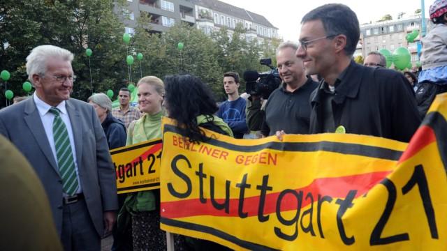 Grüne bringen sich in Anti-Stuttgart-21-Bündnis ein