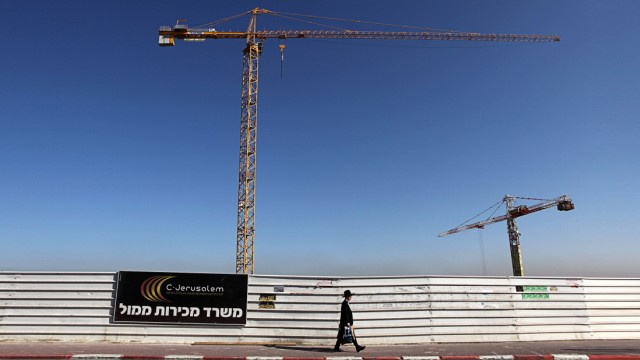 A construction site in Gilo