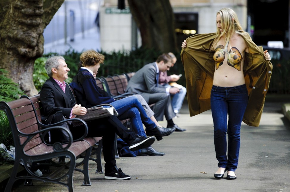 Australians Bare Breast To Support Lung Health