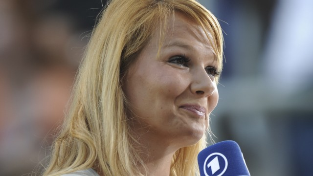 Franziska van Almsick offenbar als 'Sportschau'-Moderatorin im Gespraech