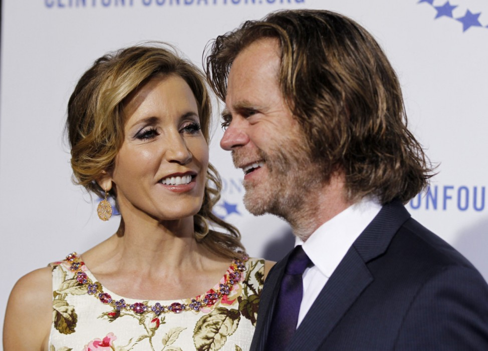 Actress Huffman and husband actor Macy arrive at The Clinton Foundation Gala in celebration of the organization's Decade of Difference in Los Angeles