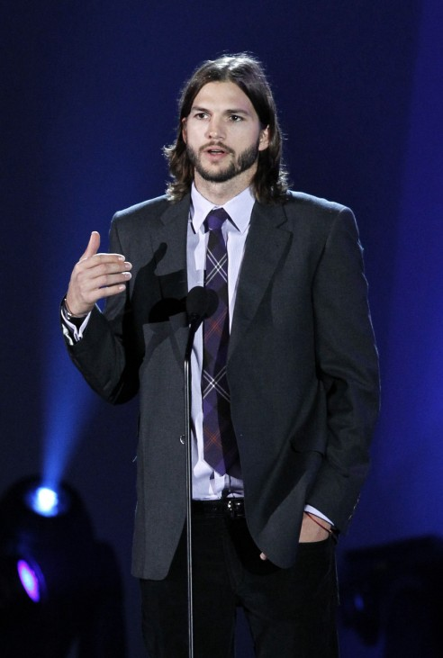 Kutcher speaks during 'A Decade of Difference: A Concert Celebrating 10 Years of the William J. Clinton Foundation' at the Hollywood Bowl in Hollywood