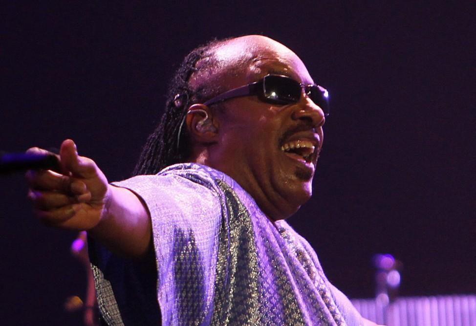 Stevie Wonder preforms at the Rock in Rio