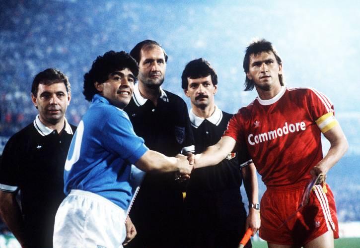 Diego Armando Maradona und Klaus Augenthaler