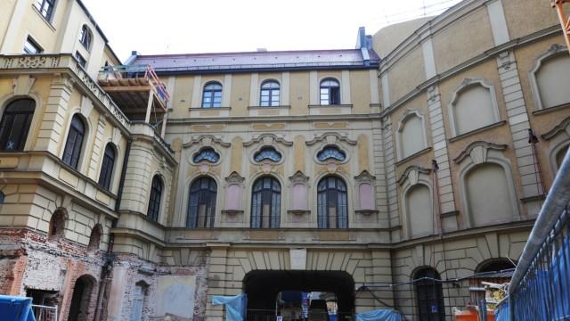 Baustelle am Deutschen Theater in München, 2010
