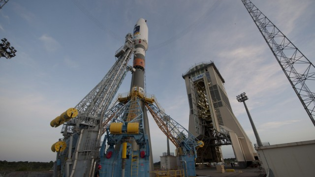 Soyuz rocket ready for launch
