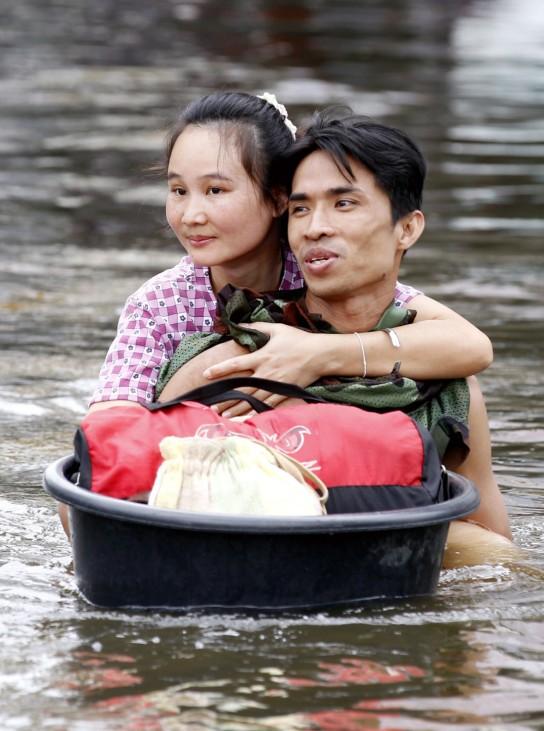 Heavy flood situation
