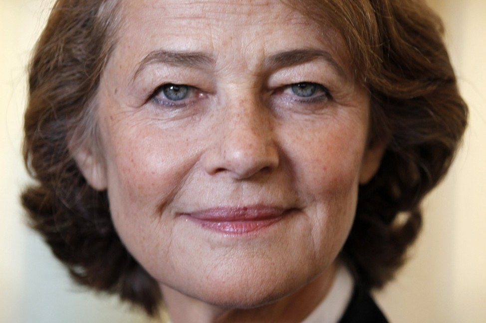 Actress Charlotte Rampling attends a ceremony at the Culture Ministry in Paris