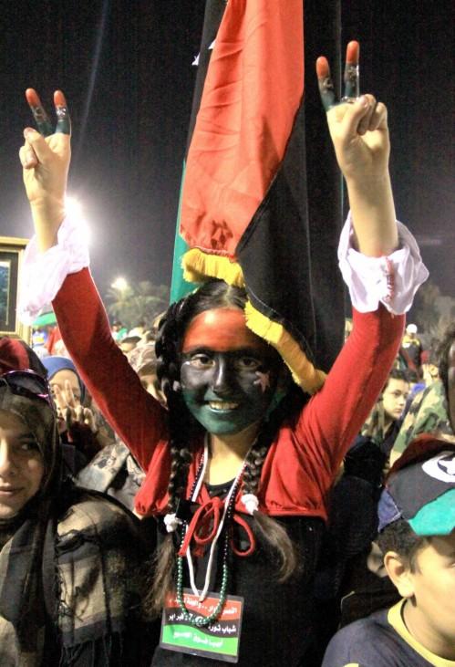 Libyan rejoice on the liberation of Sirte and Gaddafi's death