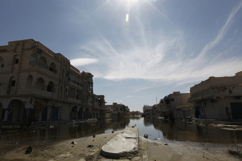 A deserted street is seen in Sirte after the fall of the town