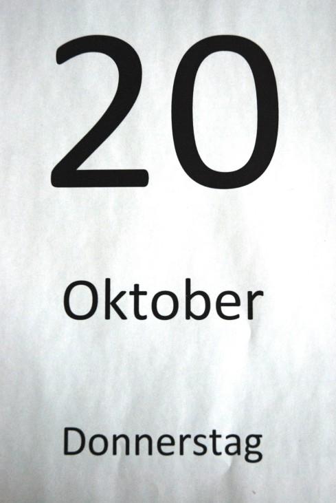 Kalender Donnerstag