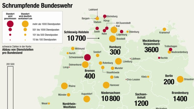 Bundeswehr Standortschließungen Reduzierungen 2011 de Maizière