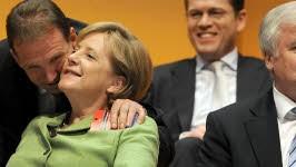 Angela Merkel CDU CSU Horst Seehofer Günther Oettinger, dpa