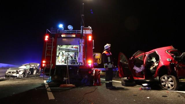 Drei Tote bei Karambolage nach Wildunfall in Hessen