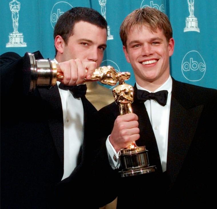 Ben Affleck und Matt Damon mit Filmpreis Oscar, 1998