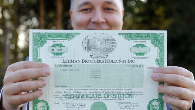 Auktion mit Wertpapieren von Lehman Brothers