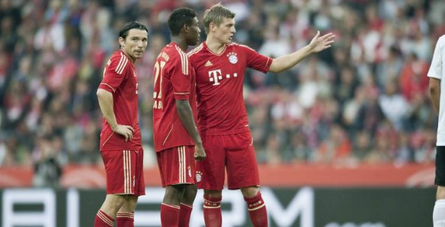 FC Bayern Mittelfeld Alaba Pranjic Gustavo Kroos