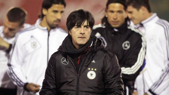 Training der deutschen Nationalmannschaft - Hamburg