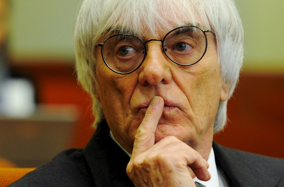 Bernie Ecclestone beim Gribkowsky-Prozess