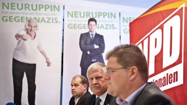 NPD-Parteitag in Neuruppin