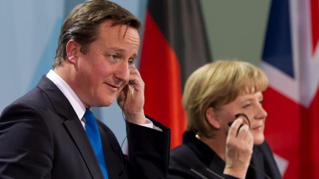Bundeskanzlerin Merkel trifft britischen Premierminister Cameron