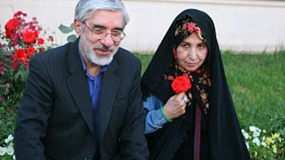 Iran: Oppositionsführer Mussawi: Gewagte Auftritte: Mir Hussein Mussawi mit seiner Frau Sahra Rahnaward.