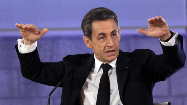 France's President Sarkozy delivers a speech at the Avignon Forum for the International meeting of culture, economy and the media