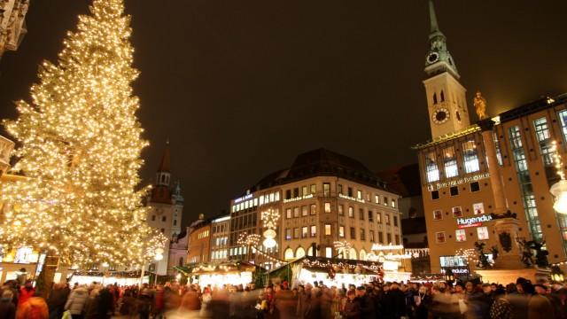 Weihnachtsmarkt auf dem Münchner Marienplatz, 2009